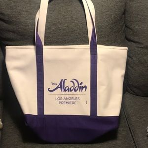 Aladdin the musical large canvas tote bag